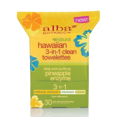 Meredith Tested Review Blog, Alba, Cleansing Towelettes, Hawaiian 3 in 1 clean