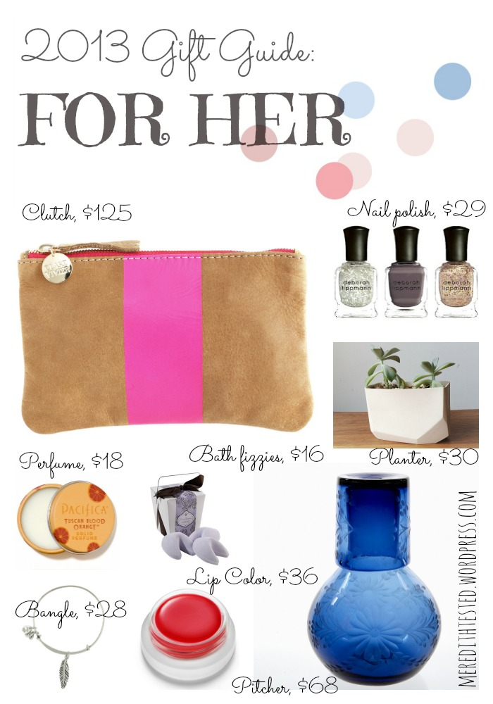 unique gifts for women, 2013 gift guide, gift ideas for her, christmas gifts for trendy women, gift guide, made in america gifts, organic gifts
