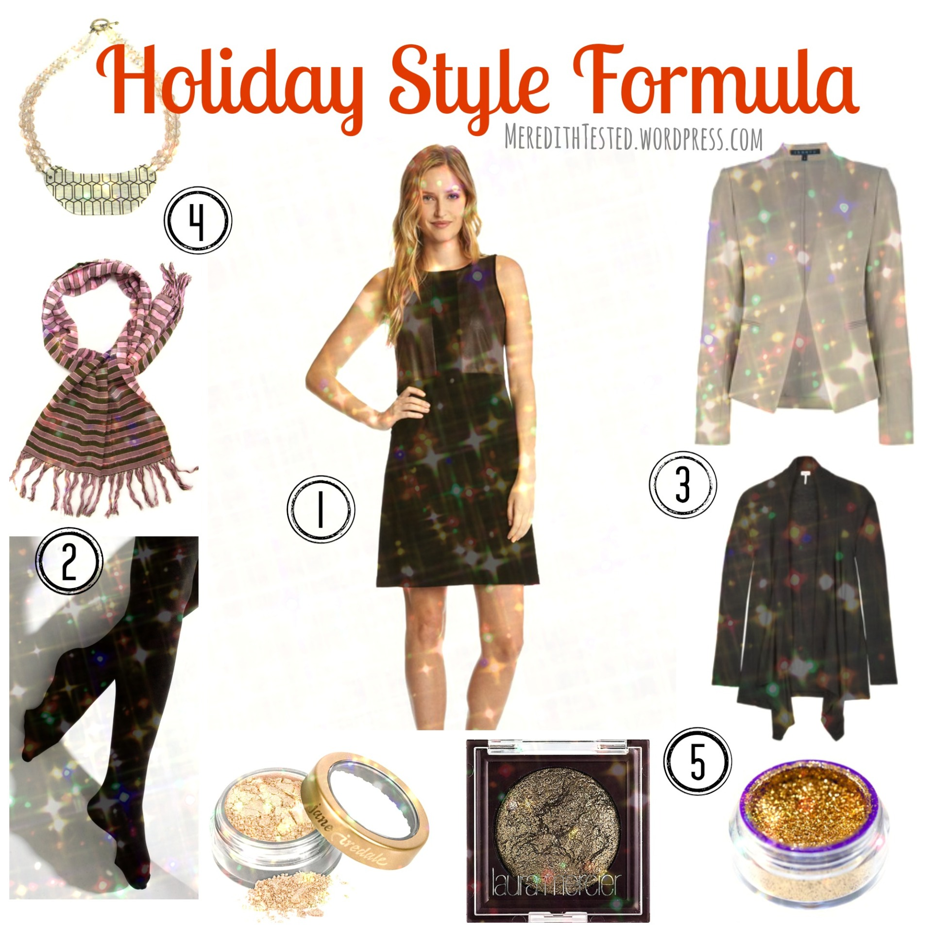 Holiday Style Formula from MeredithTested.wordpress.com, tips for holiday parties, how to dress on Christmas
