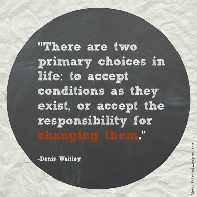 Quote about making choices, from MeredithTested.wordpress.com