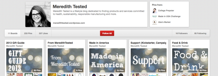 Follow Meredith Tested on Pinterest