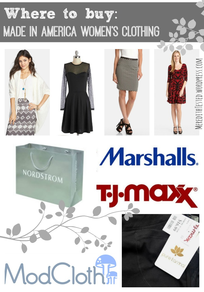 Where to find Made in America Women's clothing