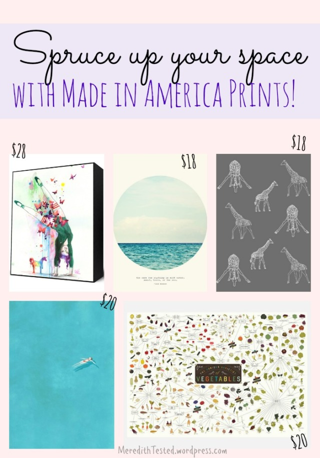 Affordable, #madeinusa art prints to spruce up your space! // MeredithTested.wordpress.com
