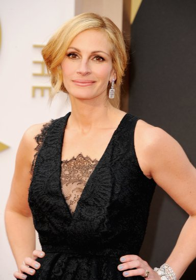 Julia Roberts Oscars Academy Awards 2014, Best Beauty Looks, Best Hair and Makeup