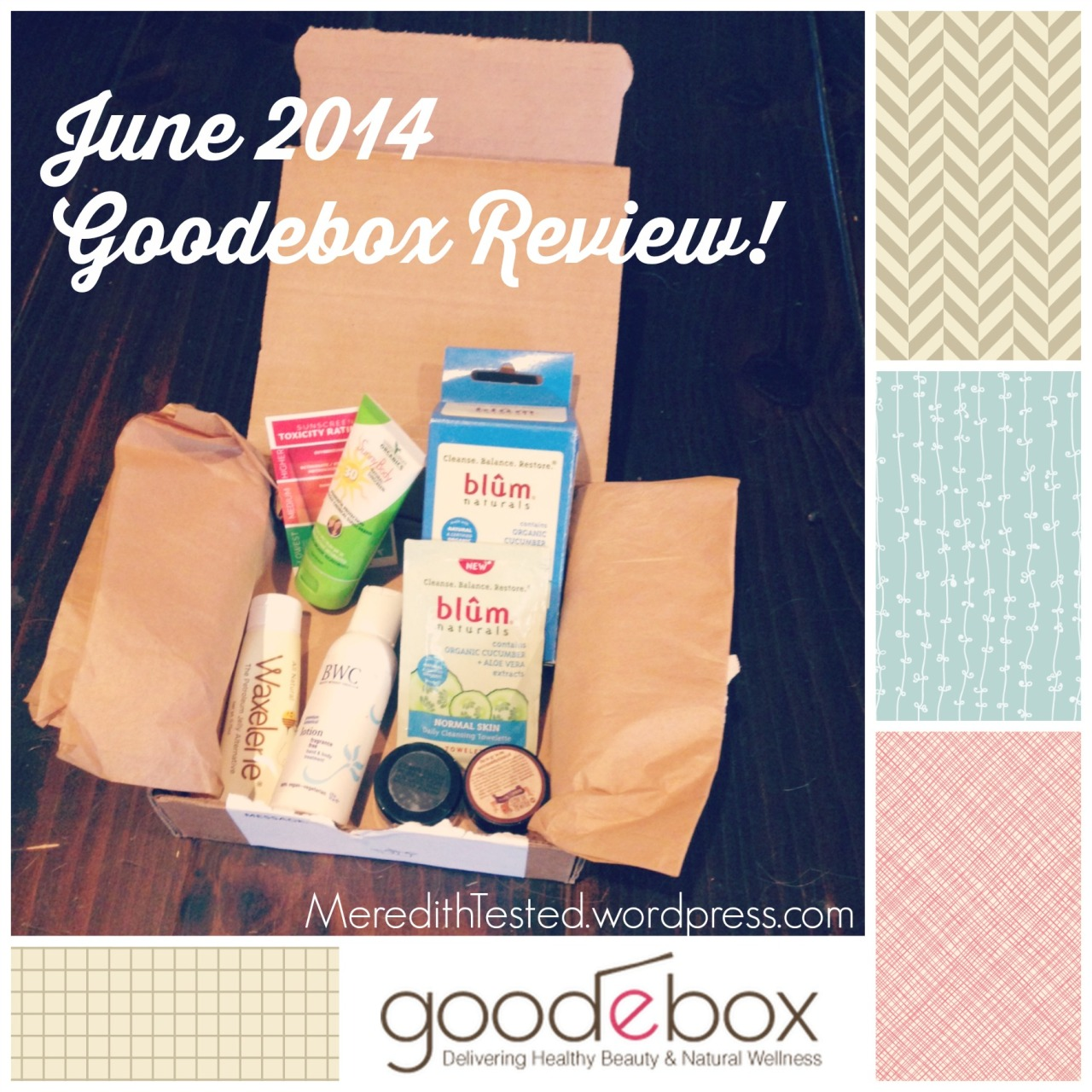 Goodebox Natural Wellness Products Subscription Box REVIEW by MeredithTested.wordpress.com