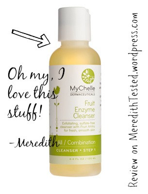 MyChelle Fruit Enzyme Cleanser face wash review // MeredithTested.wordpress.com