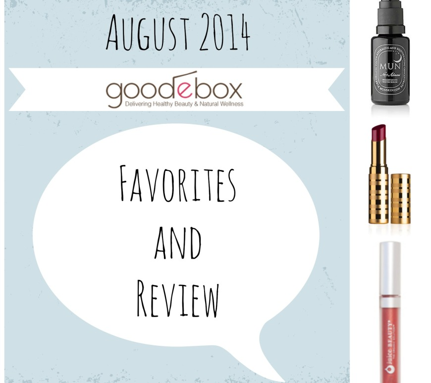 goodebox review, mun, beauty counter lip sheer, juice beauty review, meredith tested