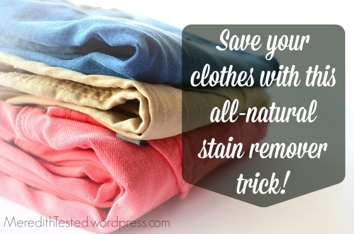 DIY all-natural stain remover