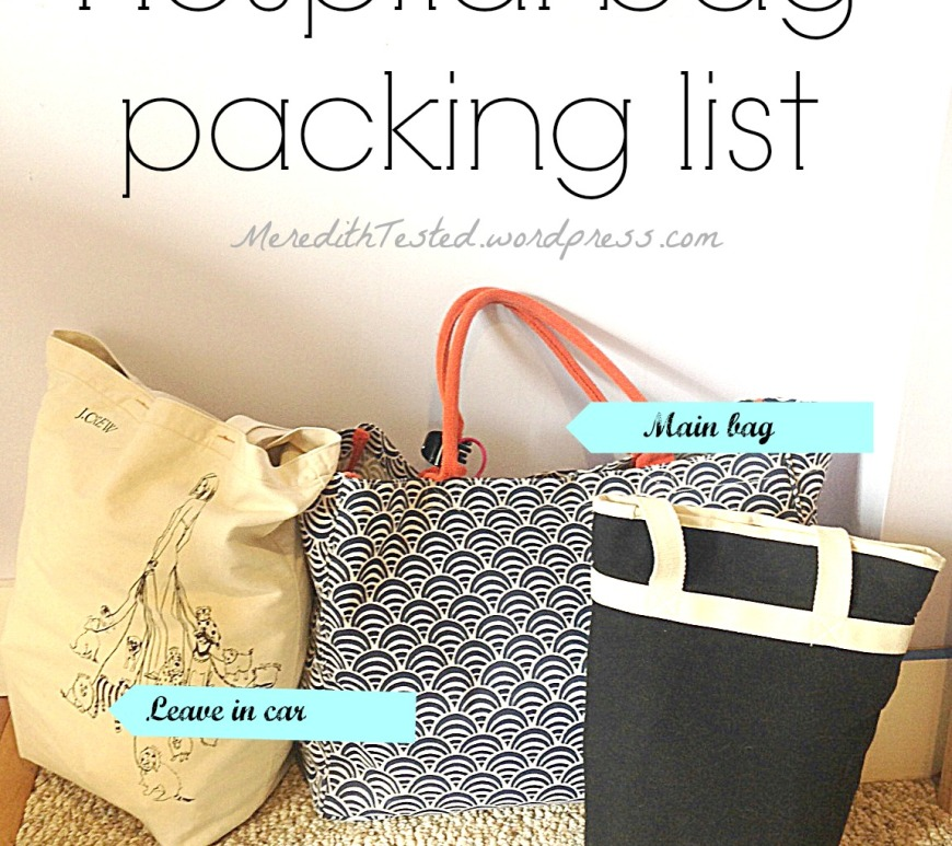 hospital bag packing list
