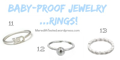 baby friendly baby proof jewelry new mom gift RINGS
