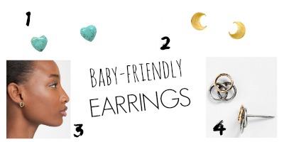 baby friendly proof earrings