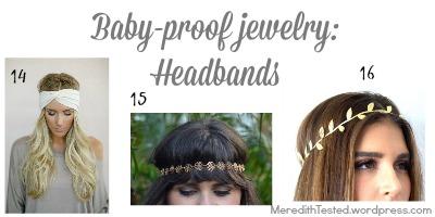 baby proof jewelry fashion new mom headband