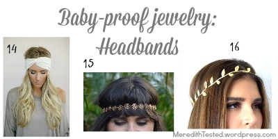 baby proof jewelry fashion new mom headband