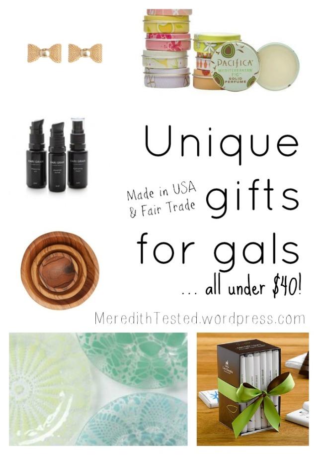 Made in USA Fair Trade Gifts Under 40 Women Girls