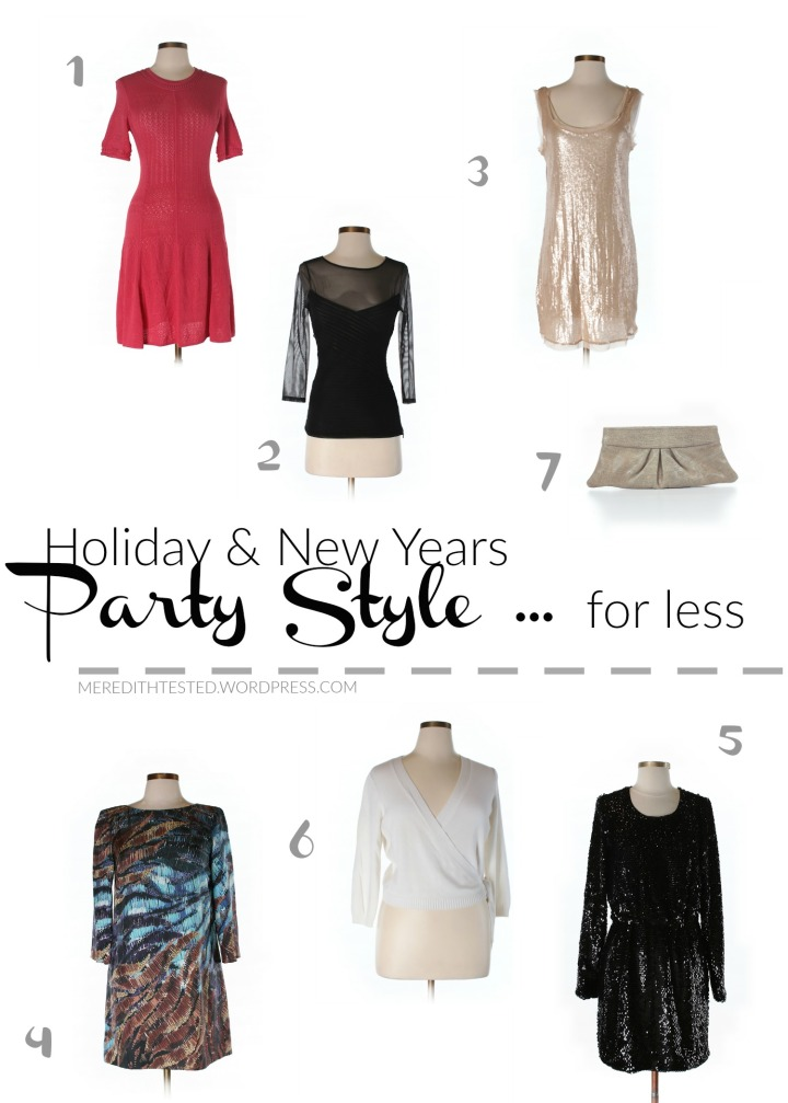 Holiday and New Years Party Outfit Ideas, Inexpensive, Eco Friendly