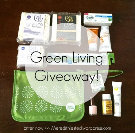 """Different view of the """"Green Living Giveaway package"""" hosted by MeredithTested.wordpress.com!"""