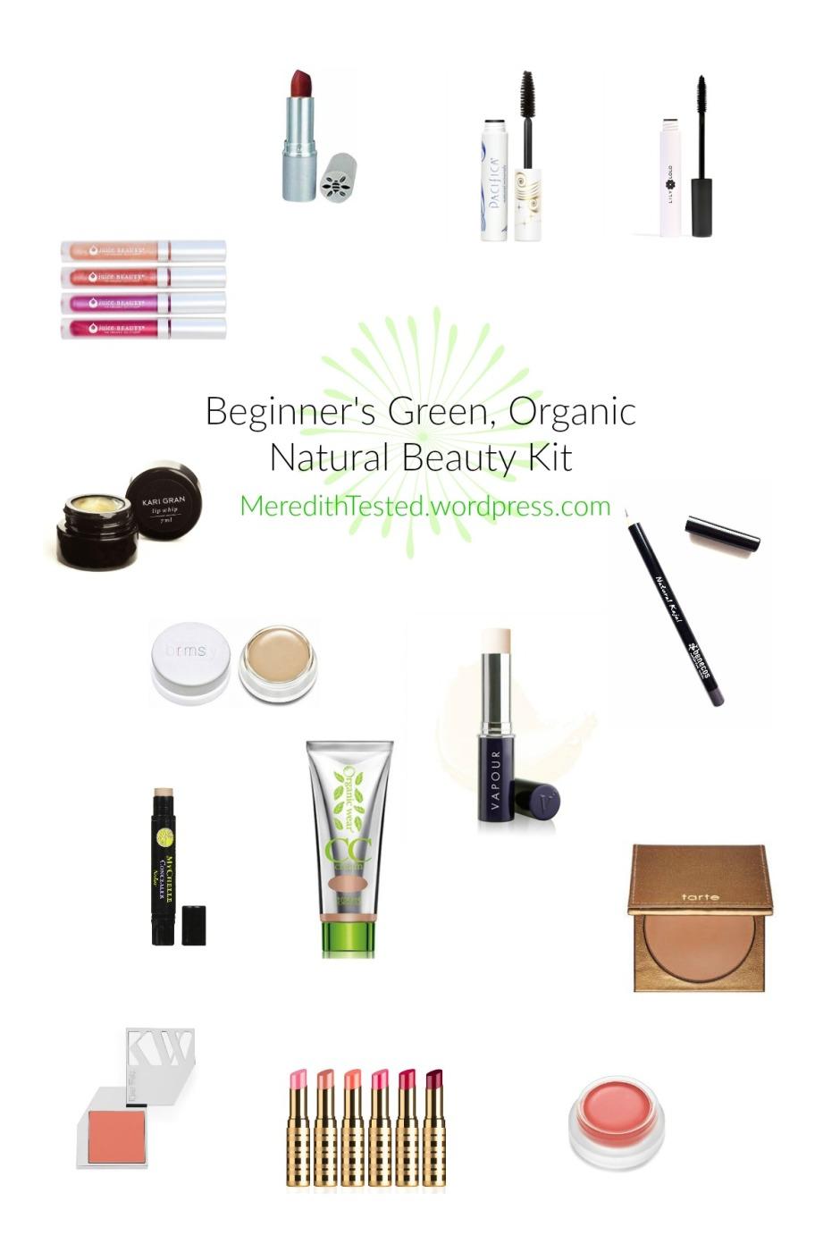 Green Organic Clean Safe Makeup Beauty Cosmetics Beginner