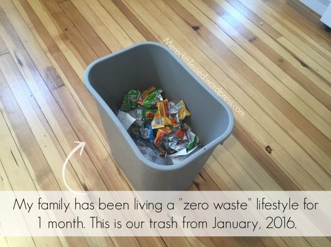 One month living zero waste, less waste, plastic free.