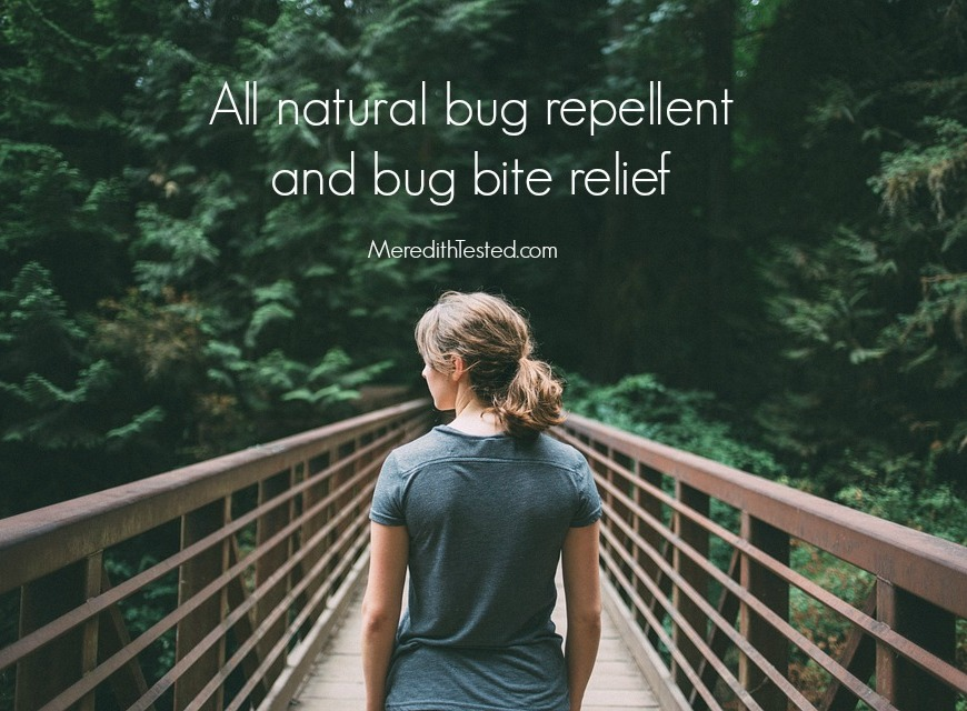 All natural, zero waste bug and mosquito repellent and bug bite relief