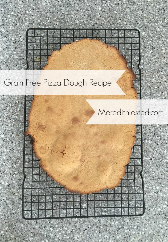 Grain free gluten free pizza dough