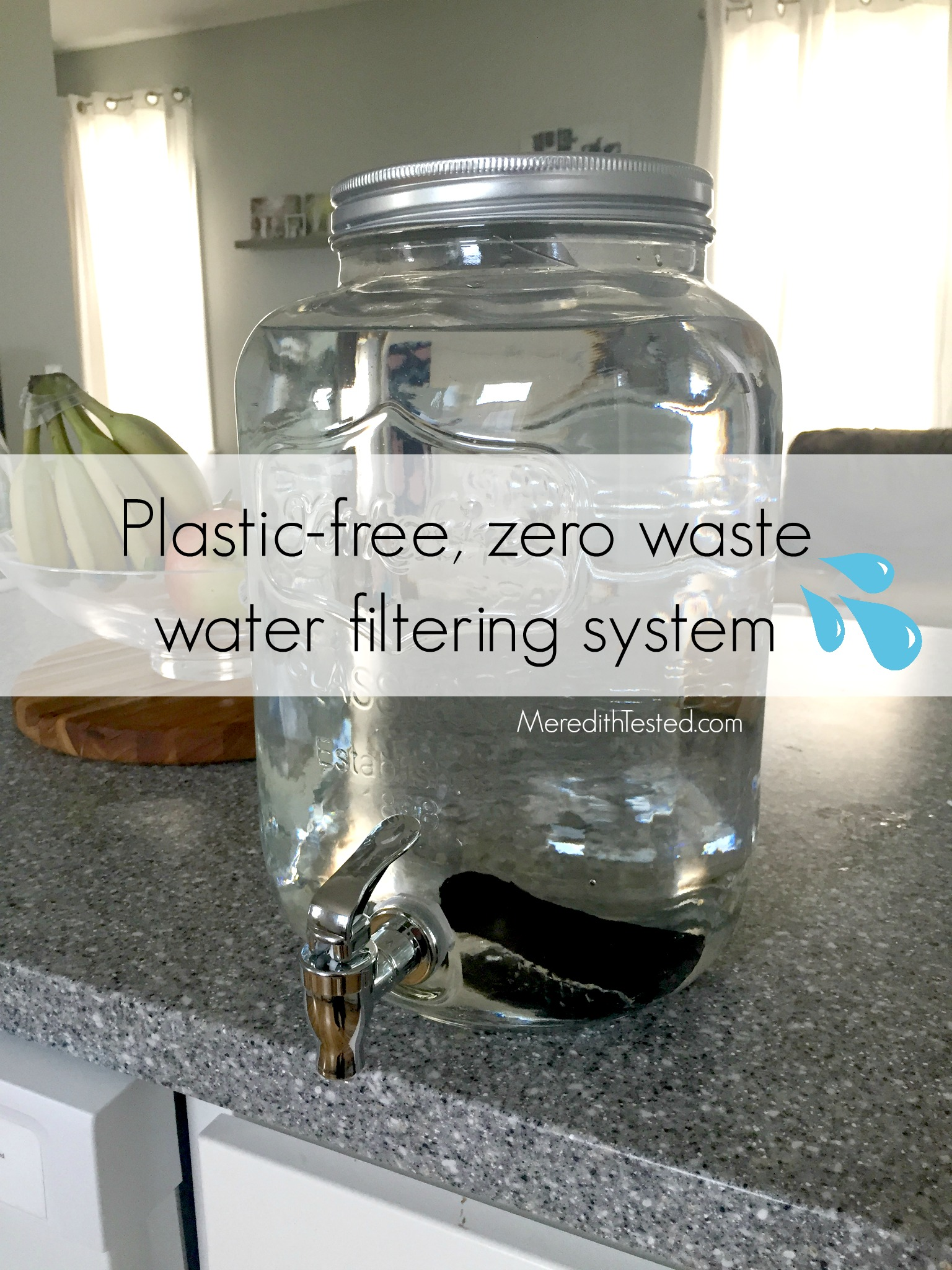 Plastic Free, Glass And Metal, Charcoal, Water Filter, Zero Waste, Eco