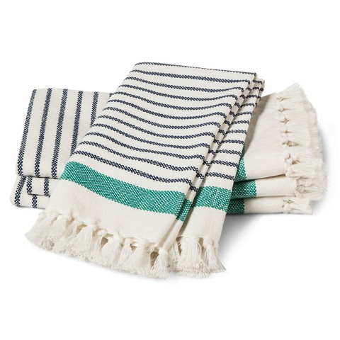 Striped cute reusable cloth napkins for dinner parties, picnics, events #zerowaste #ecofriendly