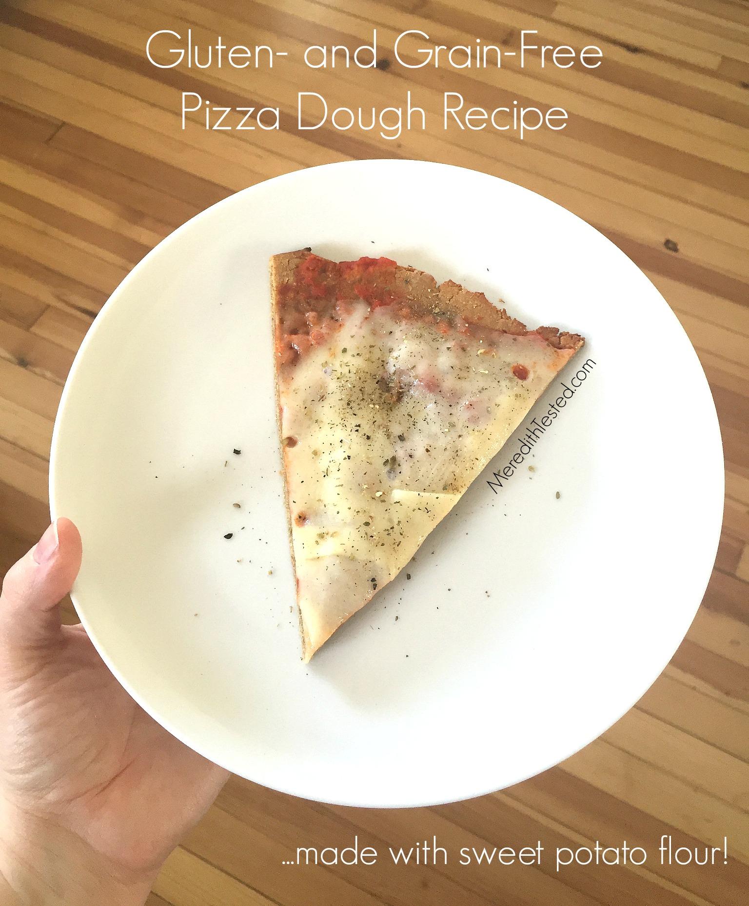 Sweet potato flour pizza dough flatbread recipe