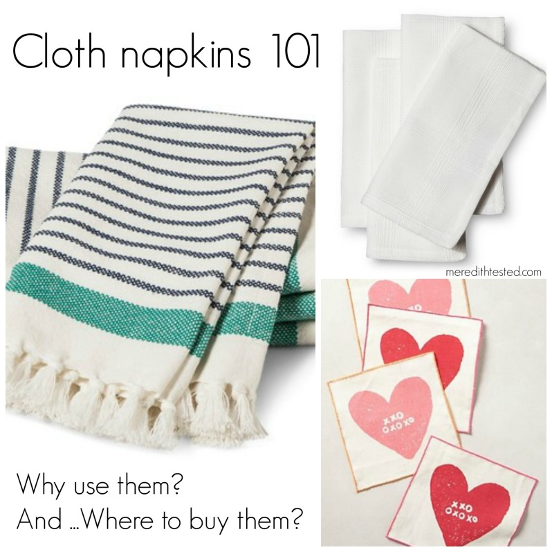 Why buy and use cloth napkins in your home or during an event?