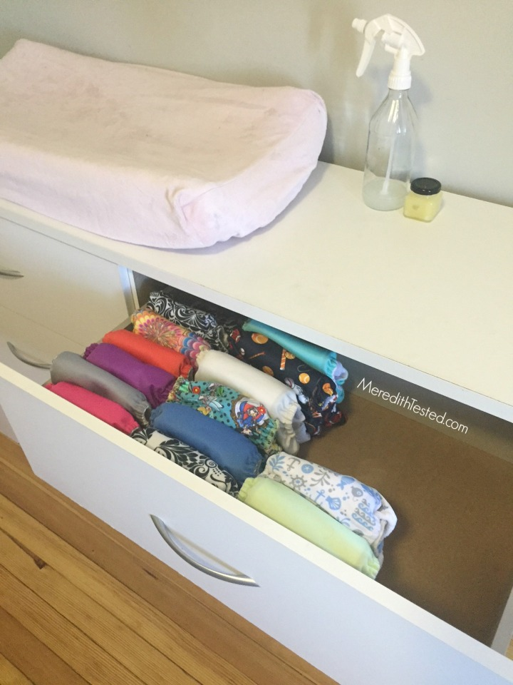 Meredith's favorite cloth diapers and organization tips
