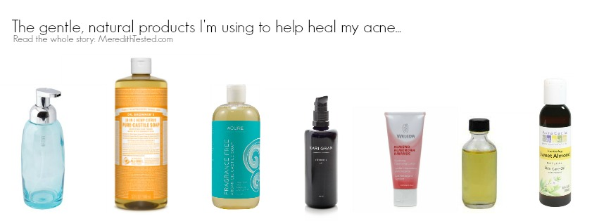 The all natural and organic products I'm using to cure and gently heal my acne and blemishes