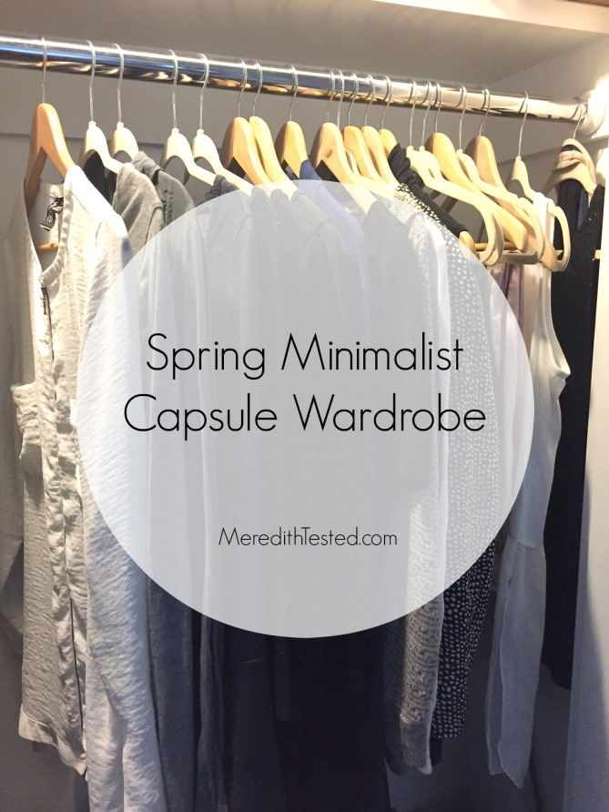 Meredith's spring capsule wardrobe - monochrome and minimalist women's wardrobe ideas