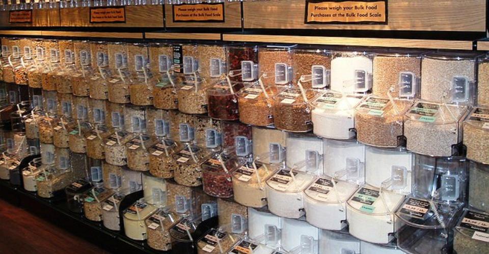 bulk bins of ingredients