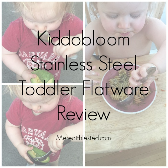 Baby led weaning graduate? Meredith's review of Kiddoboom plastic-free stainless steel baby/toddler/kids fork, spoon, knife set