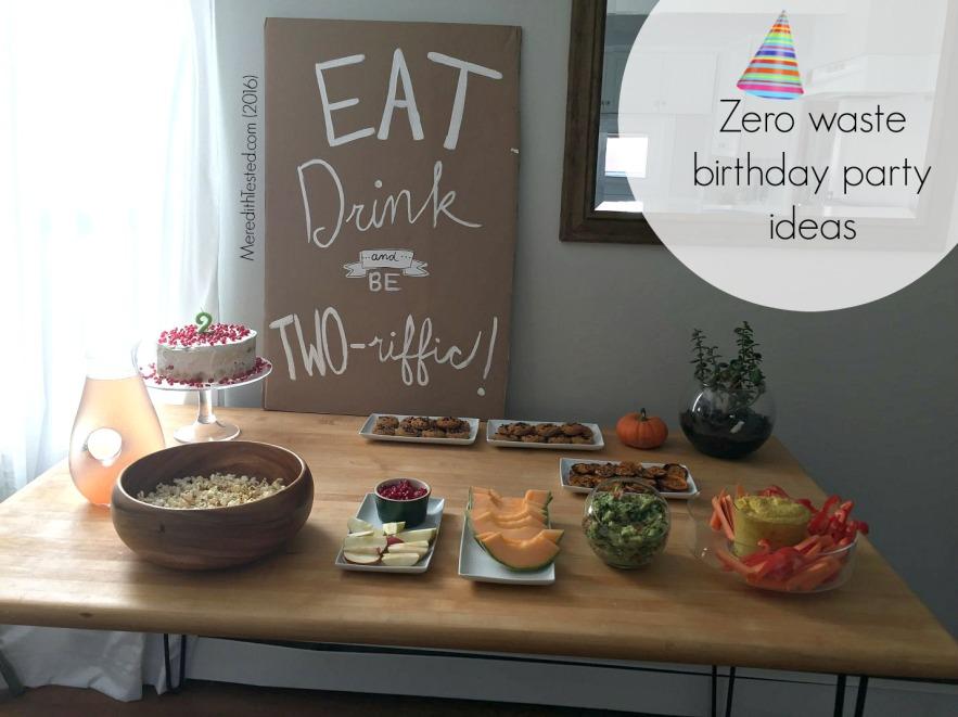 Eco friendly party ideas