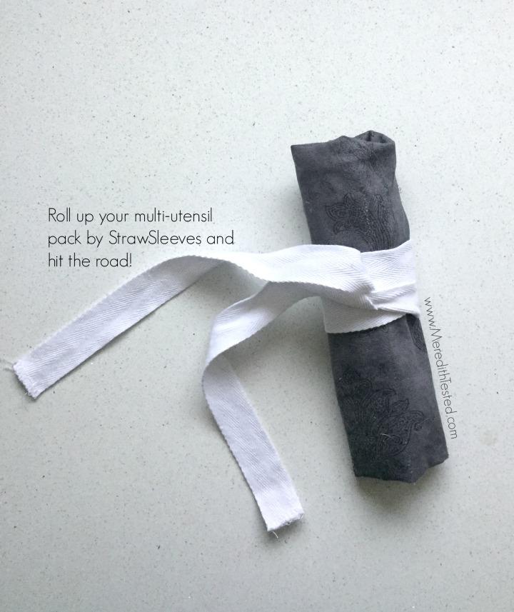Multi utensil pack fabric roll up case