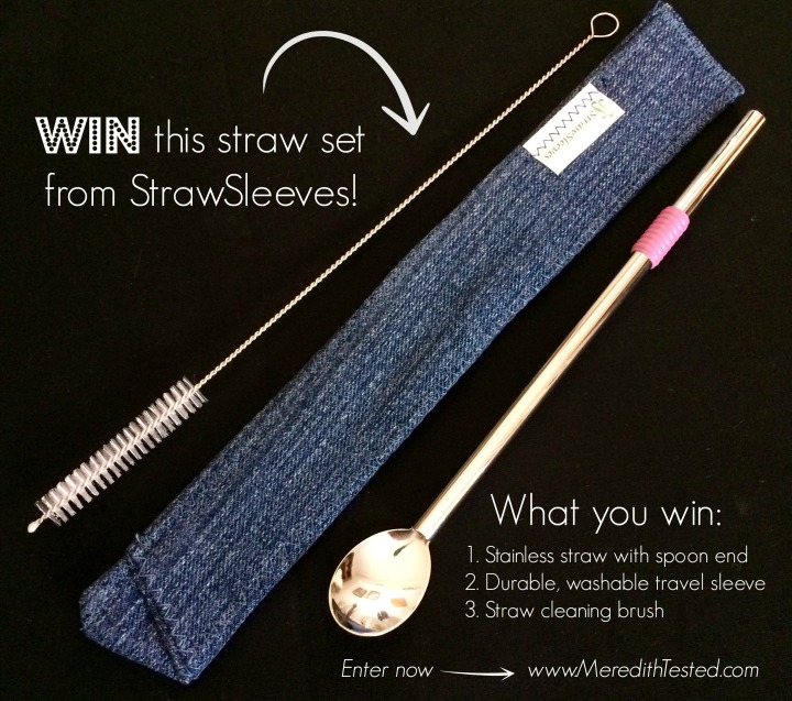 reusable straw set giveaway
