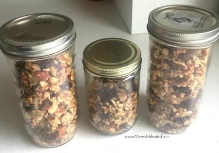 Zero waste paleo gluten free granola recipe