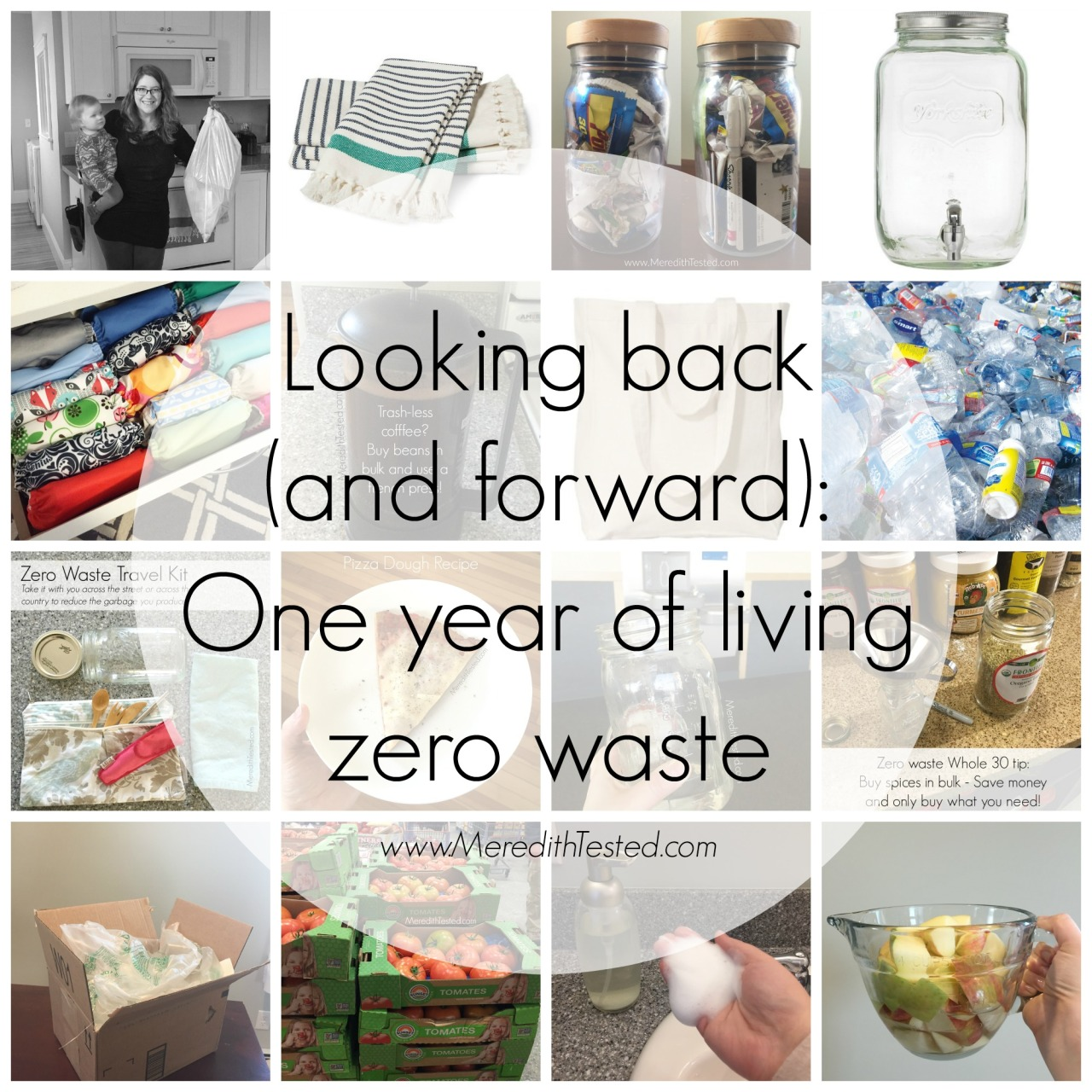 family living zero waste, zero trash with kids