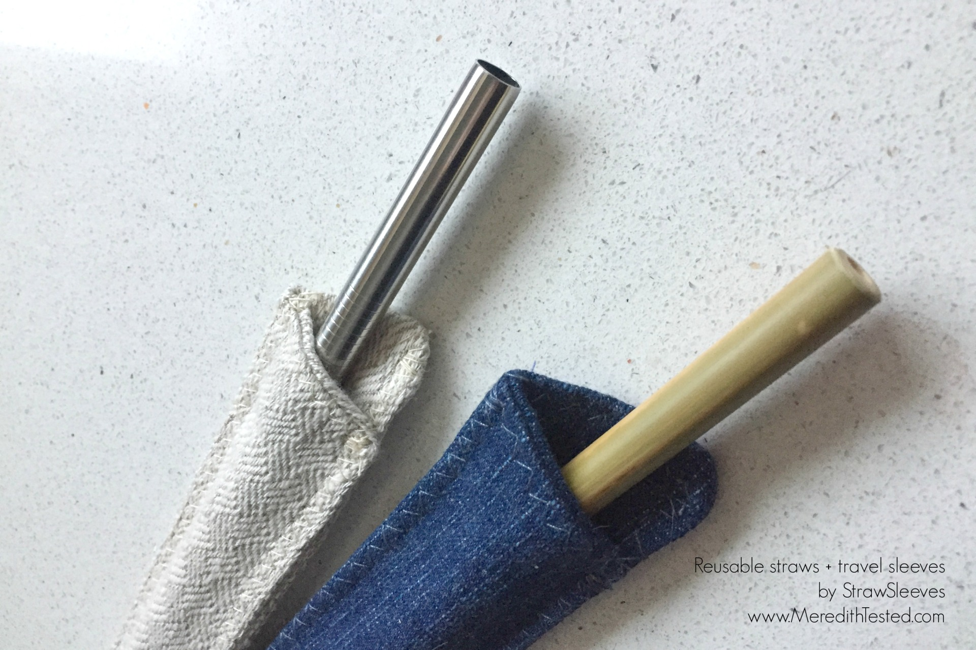Bring your own reusable straw and protective case by StrawSleeves