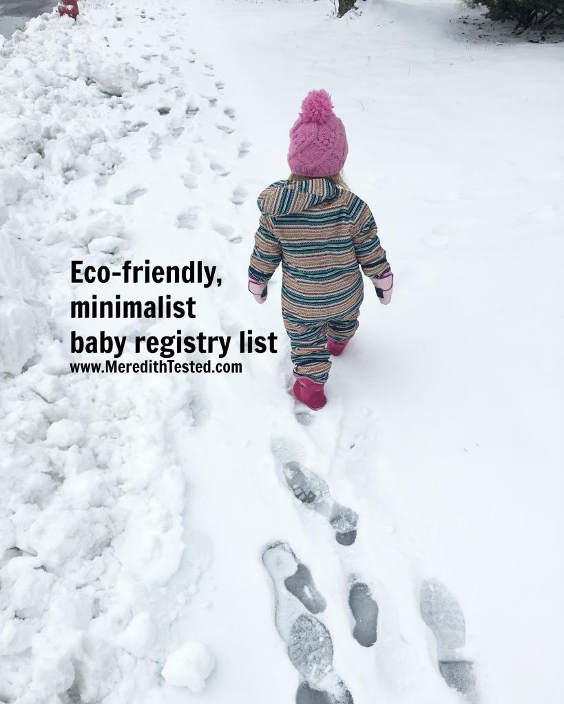 How to Build a Minimalist Eco Friendly Baby Registry