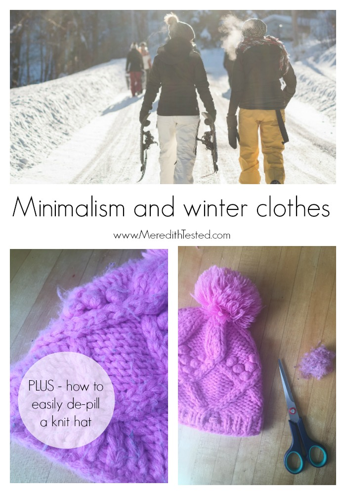 How one minimalist family deals with winter clothes and gear