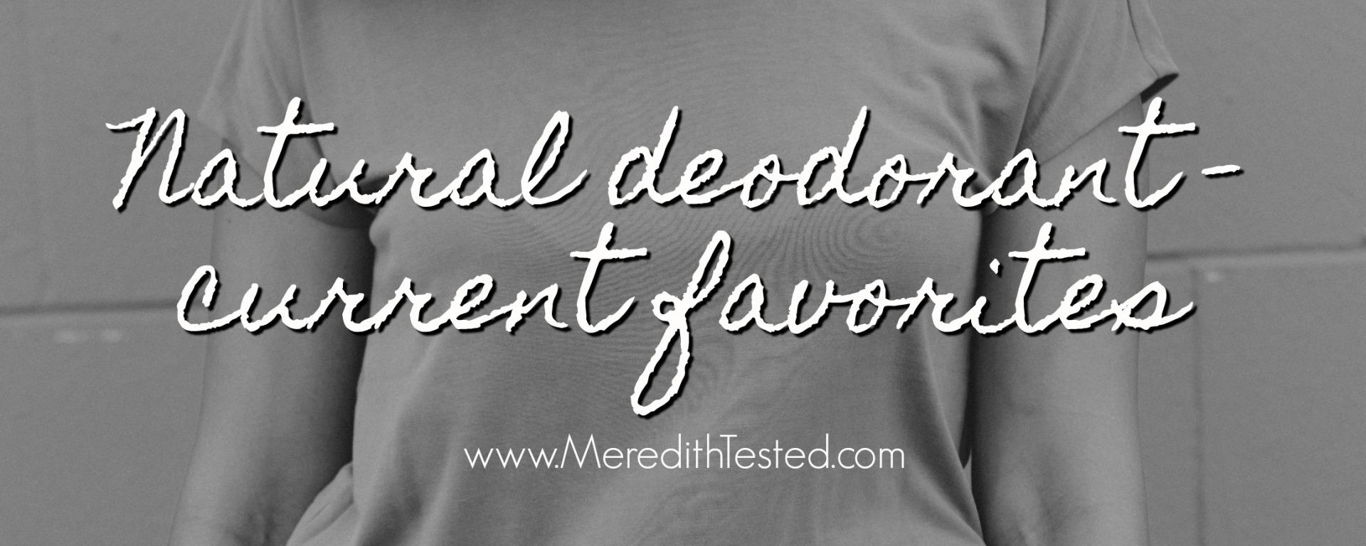 aluminum free deodorant recommendations